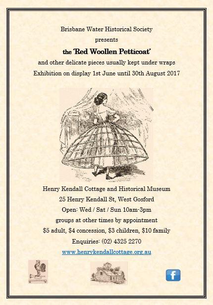 Henry Kendall - Exhibition 'Red Woollen Petticoat'