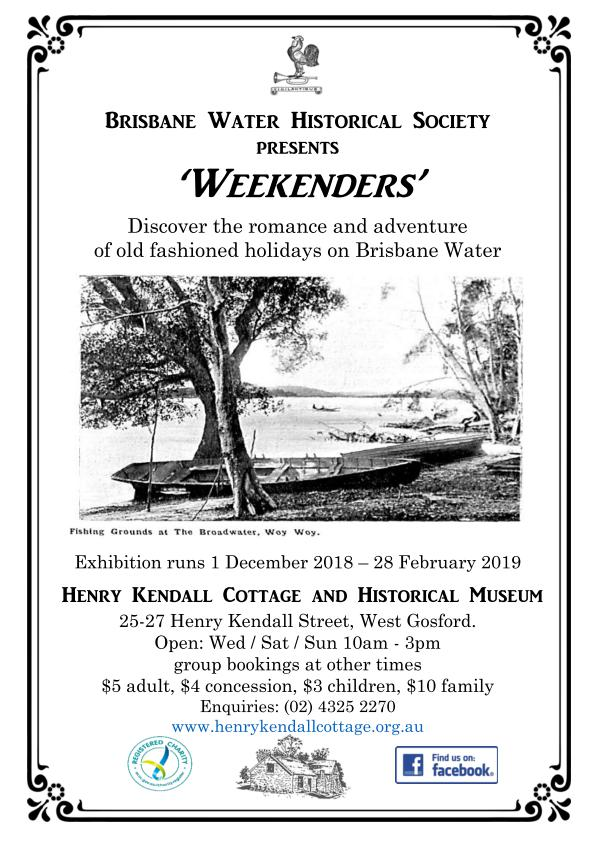 Henry Kendall - Weekenders Display flyer_page_001